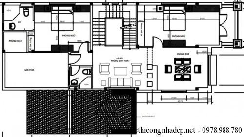 mat bang tang 26 500x281 Mẫu biệt thự 2 tầng mái thái hiện đại