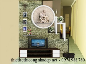 Thiết kế nội thất phòng khách nhà phố 2 tầng 5×18.7m