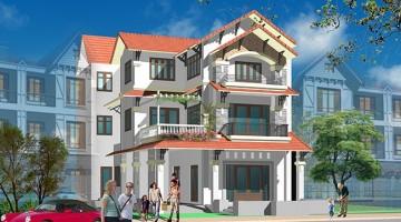 Thiết kế biệt thự 3 tầng mái thái đẹp 160m2 sàn