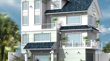 Mẫu thiết kế biệt thự 3 tầng 2 mặt tiền mái thái đẹp 9x12m