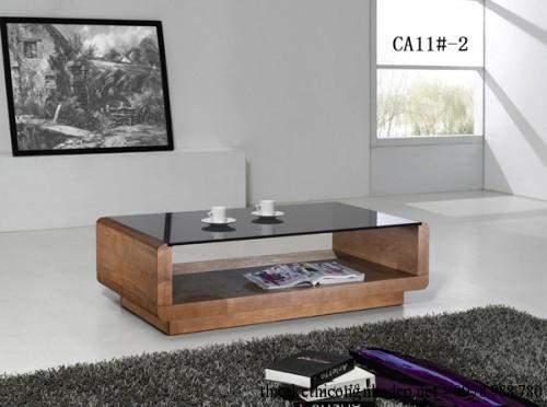 Bàn trà sofa gỗ và kính số 10