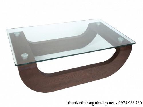 Bàn trà sofa gỗ và kính số 9
