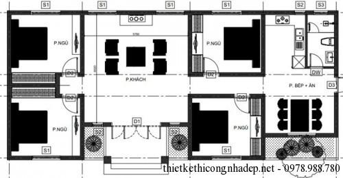 Mặt bằng nhà cấp 4 tại Phú Thọ