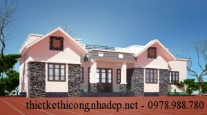 Mẫu thiết kế nhà cấp 4 mái bằng đẹp tại Phú Thọ