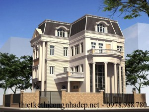 Mẫu thiết kế nội thất biệt thự, villa hiện đại 4 tầng
