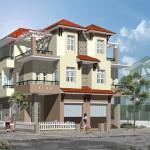Mẫu bản vẽ thiết kế biệt thự song lập 3 tầng 6x17m mái thái