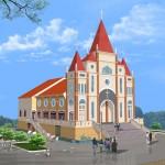 Bản vẽ thiết kế nhà thờ Thiên Chúa Giáo tại Long An