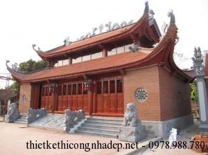 Thiết kế mẫu nhà thờ họ 2 tầng 8 mái đẹp họ Đinh