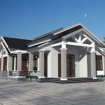 Thiết kế mẫu biệt thự nhà vườn 1 tầng đẹp nhất 12x14m