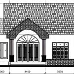 Bản vẽ thiết kế nhà cấp 4 đơn giản mái thái 8x18m