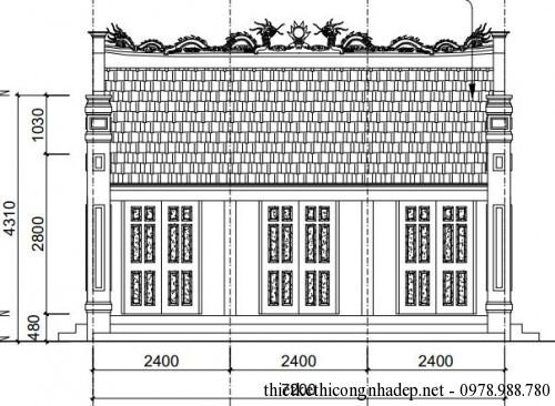 Dự toán, kết cấu nhà thờ họ từ đường họ tộc