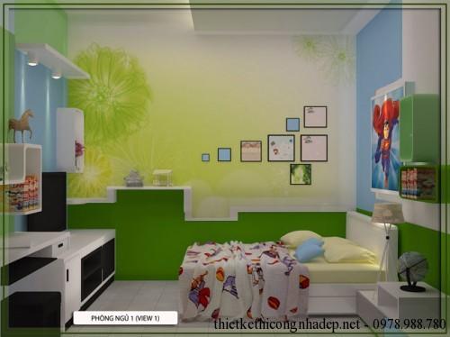 Thiết kế nội thất phòng ngủ chính nhà cấp 4 8x17m