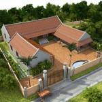 Bản vẽ kiến trúc nhà thờ họ đẹp tại Hưng Hà Thái Bình