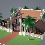 Mẫu thiết kế kiến trúc nhà thờ họ đơn giản