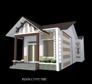 Mẫu thiết kế nội thất nhà cấp 4 đơn giản hiện đại 8x17m