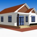 Thiết kế nhà cấp 4 mái tôn sóng ngói tại Hà Nam 7.5x17m