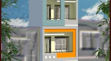 Phối cảnh nhà phố 3 tầng 3.5x13m
