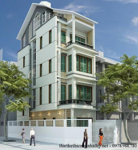 Cải tạo sửa chữa nhà phố 5 tầng để kinh doanh 5x12m