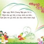 Chúc mừng ngày nhà giáo Việt Nam 20/11/2014