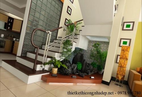 Tận dụng trang trí không gian gầm cầu thang hiệu quả
