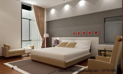 Giường ngủ phòng ngủ master