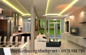 Mẫu thiết kế nội thất nhà phố nhỏ đẹp hiện đại 6x18m