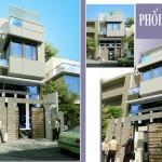 File cad mẫu thiết kế nhà  phố 2 tầng đẹp 4.5x20m