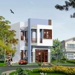 Bản vẽ thiết kế mẫu nhà đẹp 2 tầng 80m2 5x16m