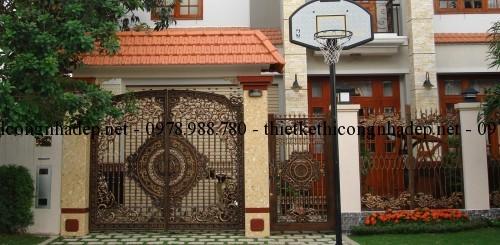File cad mẫu cổng hàng rào nhà biệt thự đẹp hiện đại