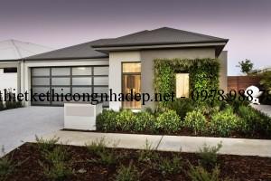 Mẫu thiết kế nhà biệt thự vườn một tầng mái thái 10x22m