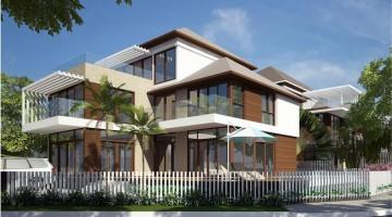 Mẫu thiết kế biệt thự nhà vườn, Villa hiện đại 13x16m