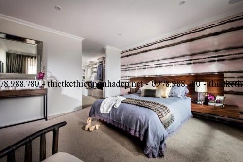 Phòng ngủ master biệt thự 10x22m