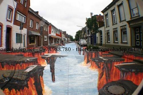 Vẽ tranh đường phố nghệ thuật