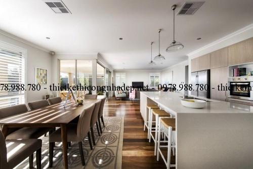 Phòng ăn biệt thự vườn 11x22m