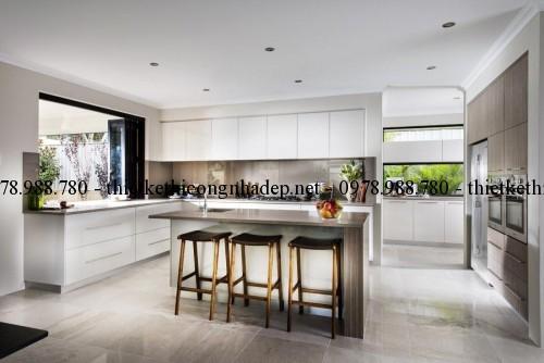 Phòng bếp biệt thự 13x30m