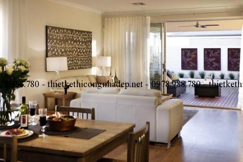 Phòng khách biệt thự vườn 12x26m