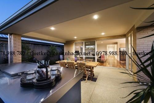 Phòng ngoài trời biệt thự vườn 11x22m
