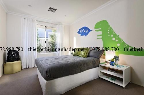 Phòng ngủ 2 biệt thự vườn 12x26m