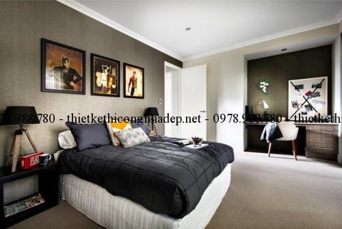 Phòng ngủ con 1 biệt thự 13x30m