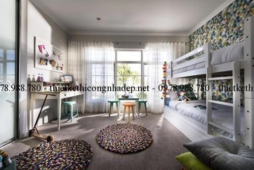 Phòng ngủ con biệt thự vườn 11x22m