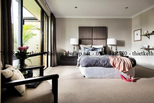 Phòng ngủ master biệt thự 13x30m