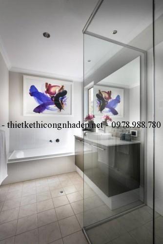 Phòng tắm biệt thự vườn 11x22m