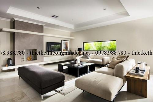 Sofa phòng khách biệt thự 13x30m