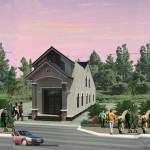 Bản vẽ thiết kế nhà cấp 4 có gác lửng mái thái 5x23m