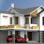 Mẫu thiết kế biệt thự 2 tầng mái thái hình chữ L