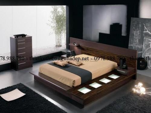 Mẫu giường ngủ gỗ số 36