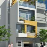 Mẫu thiết kế nhà phố 4 tầng đẹp hiện đại 5x12m