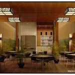 Mẫu thiết kế cải tạo quán cafe hiện đại 7x19m