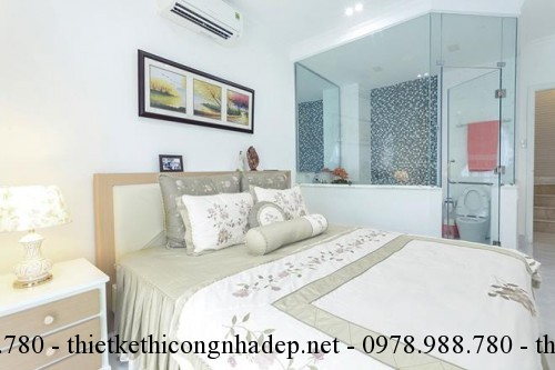 Nội thất phòng ngủ nhà phố 3x10m