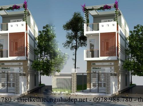 Mẫu thiết kế nhà phố nhà ống 3 tầng đẹp 5×17.5m
